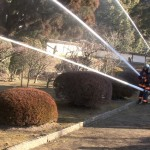 飫肥の豫章館 文化財防火デー消火訓練