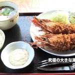 「究極の大きな海老フライ」シャンシャン茶屋