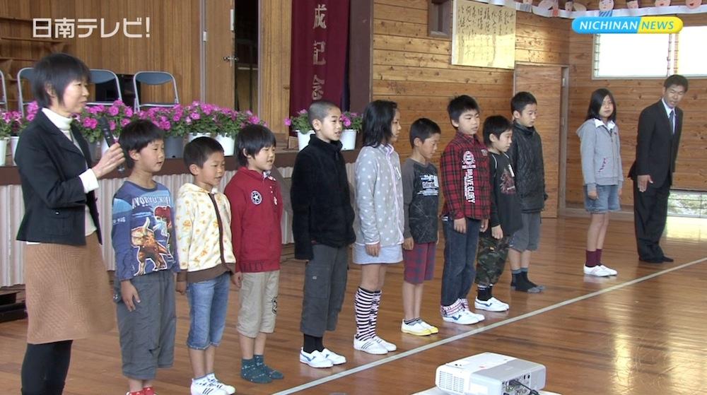 閉校になった吉野方小の児童 飫肥小へ初登校