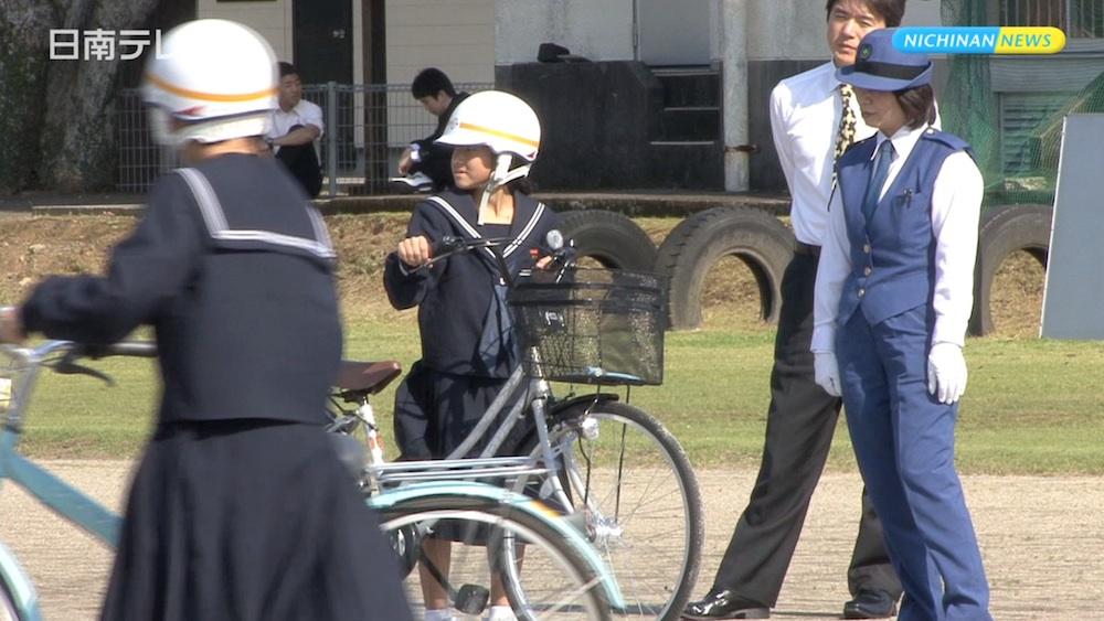 中学生 自転車交通安全教室