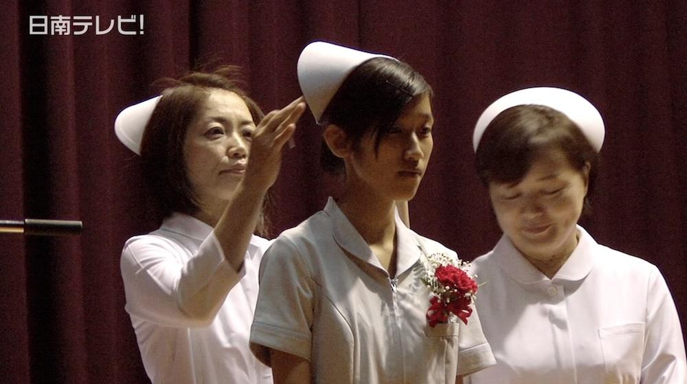 日南学園高校 看護科の戴帽式(2014)