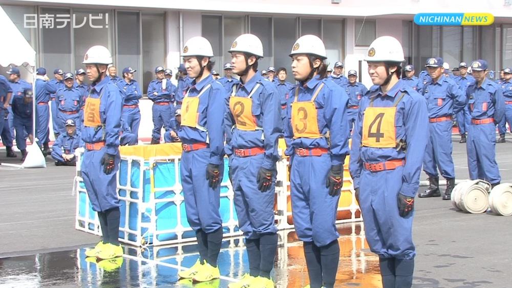 日南市消防団操法大会
