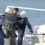 海保や警察 油津港で不審者テロ訓練