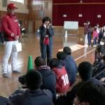 広島カープ 選手が養護学校訪問