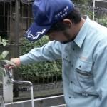 高齢者宅に水道無料点検