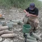 テナガエビ漁がピーク