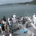 海上自衛隊「水中処分母船」体験航海