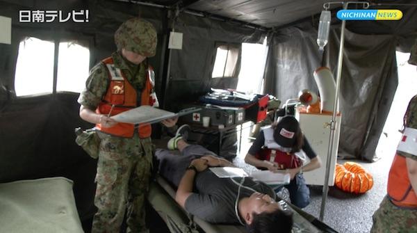 宮崎県と共催で実施 日南市総合防災訓練