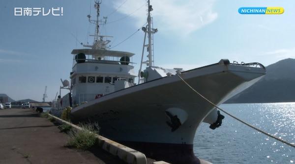 みやざき丸に乗船 漁業研修生の出発式