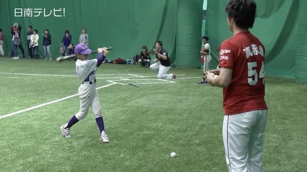 広島カープ 少年野球教室