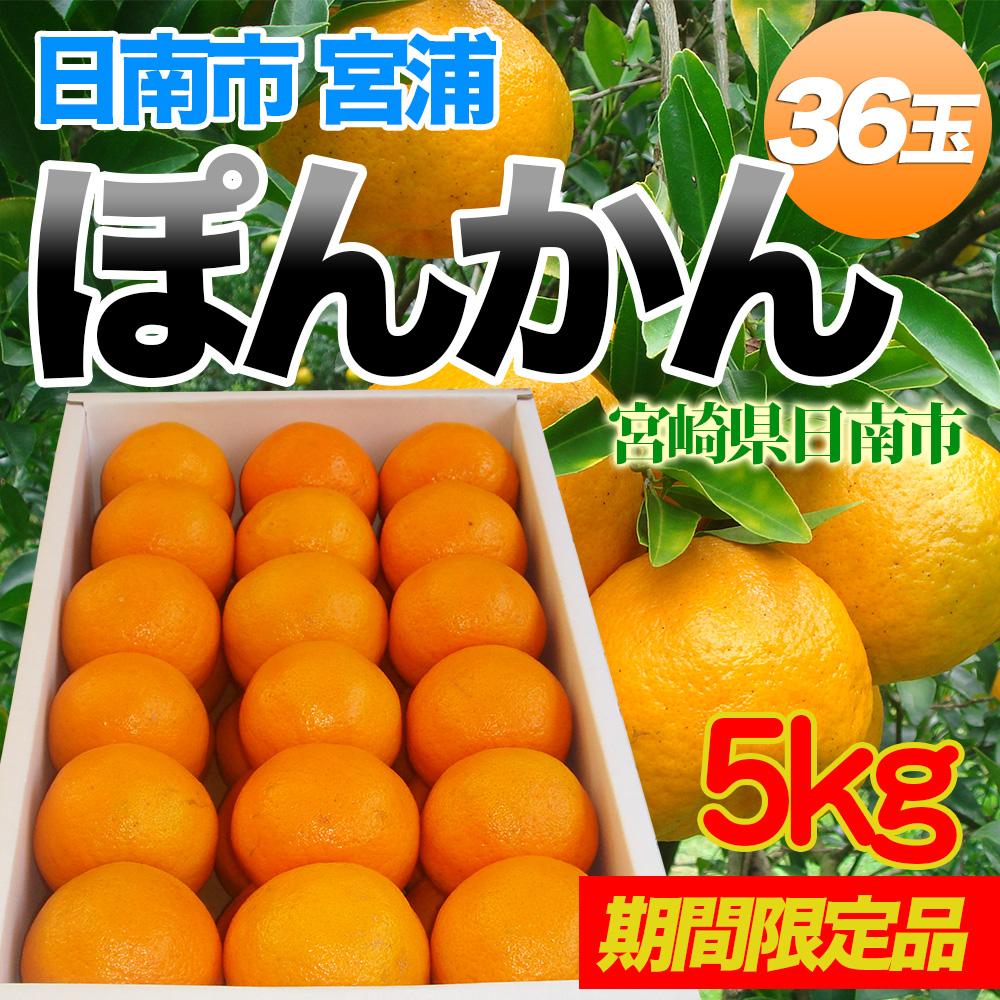 【PR】宮崎県日南市宮浦から産地直送「ぽんかん」