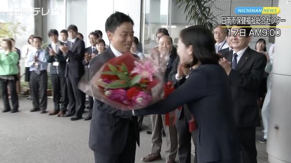 日南市長選挙 崎田氏が再選