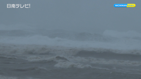 台風5号接近 日南市の様子は