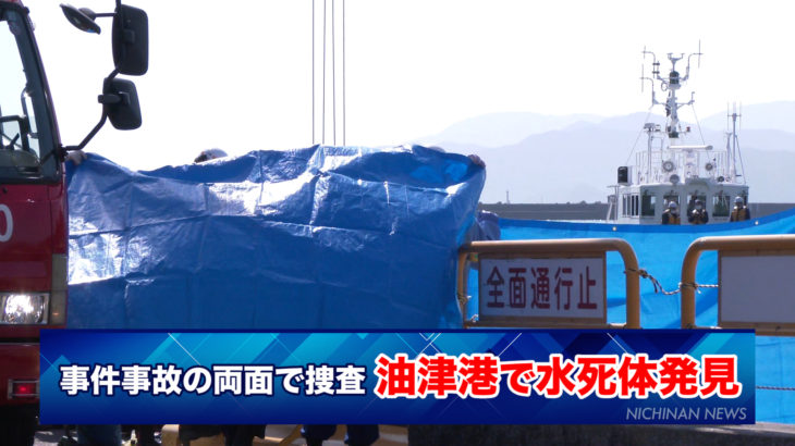 油津港で水死体が発見