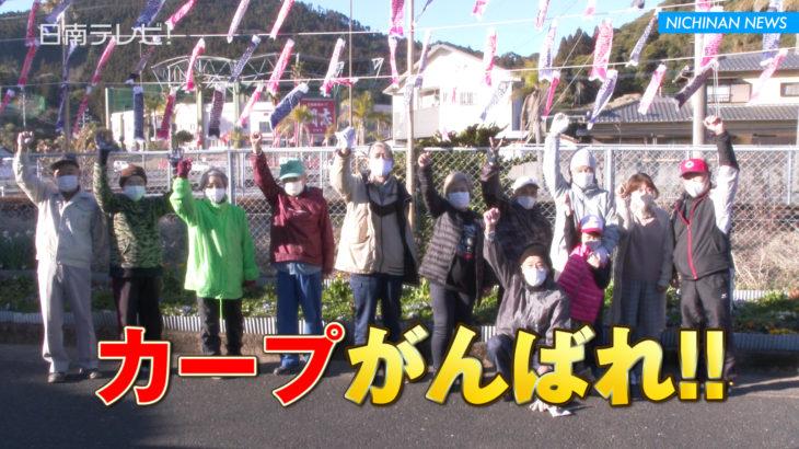 広島カープを応援 無観客でもミニ鯉のぼりを設置